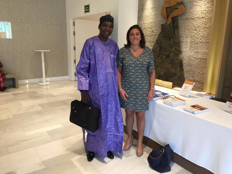 En compagnie du Président du Mali