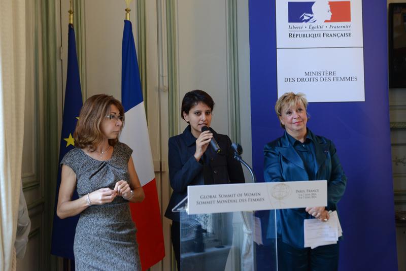 Viviane de Beaufort, Najat Vallaud-Belkacem et Agnès Bricard