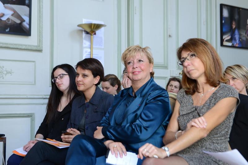 Najat Vallaud-Belkacem, Agnès Bricard et Viviane de Beaufort