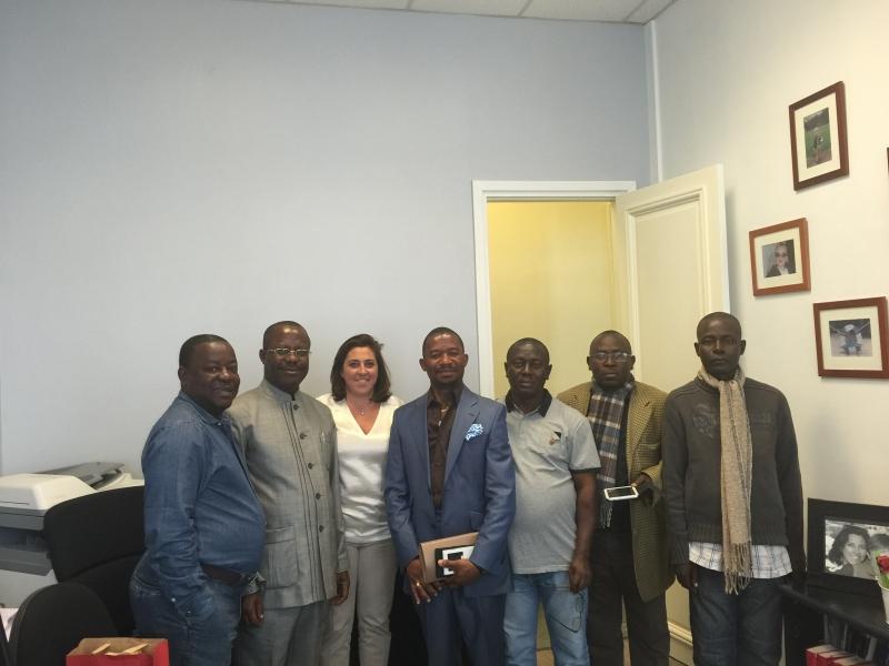 Réception de la délégation du Congo a l'étude