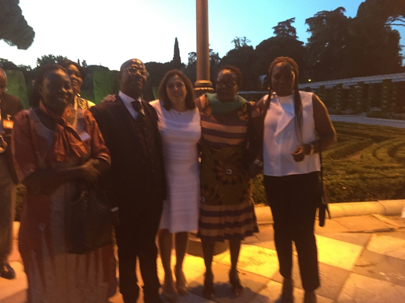 En compagnie de la délégation du Congo