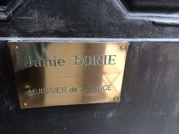 Etude de Maître Janie Borie