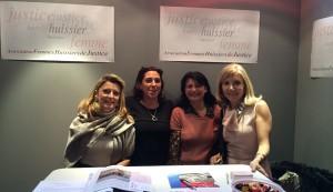De gauche à droite : Maître Claudine Mamet, Astrid Desagneaux, Maître Viviane Coudert, Maître Christine Vales