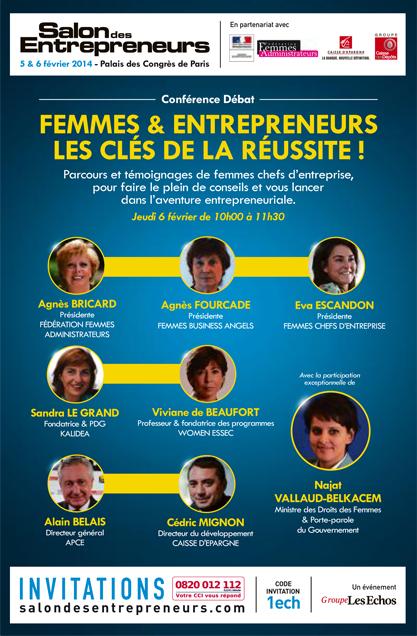 Plus de 900 personnes ont assist la conf rence femmes for Salon des entrepreneurs de paris